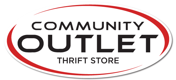 Community Outlet White Oval Logo Image