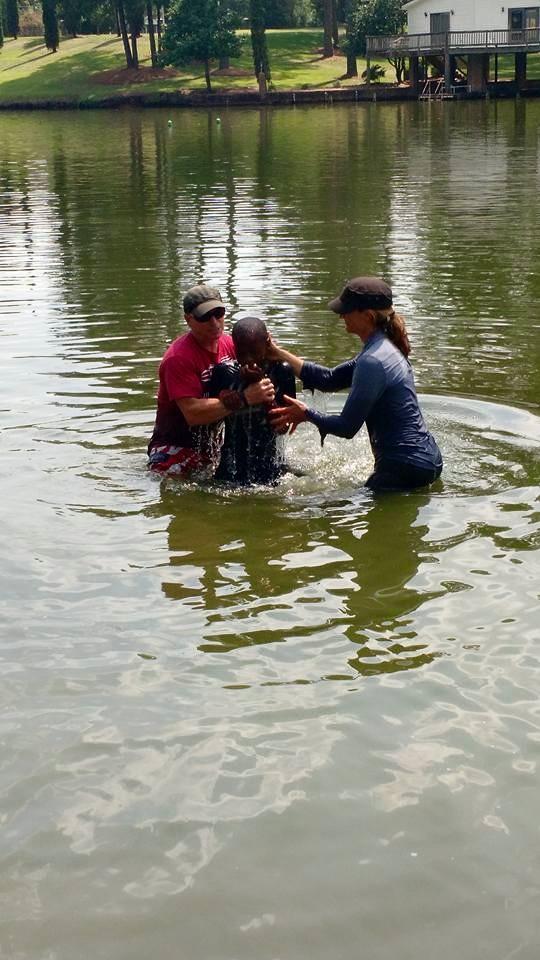 boy baptized photo