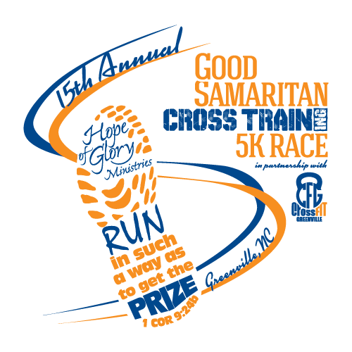 15th Annual Race logo - blue-orange